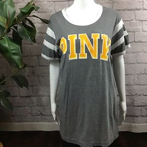 🍰 SALE! 3/$20 PINK gray orange medium t-shirt top